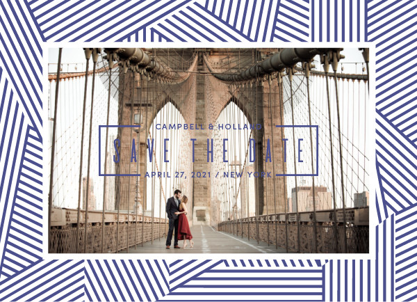 'Sloane (Cobalt)' Wedding Save the Date
