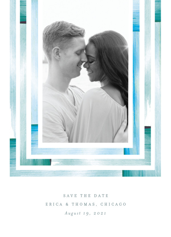 'Freshly Framed (Ocean)' Save the Dates