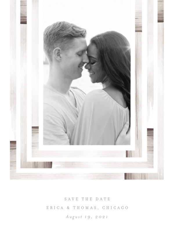 'Freshly Framed (Taupe)' Wedding Save the Date