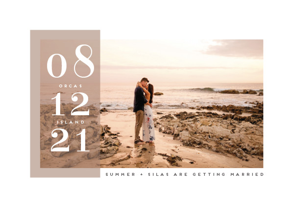 'Summer (Cocoa)' Brown Save the Dates