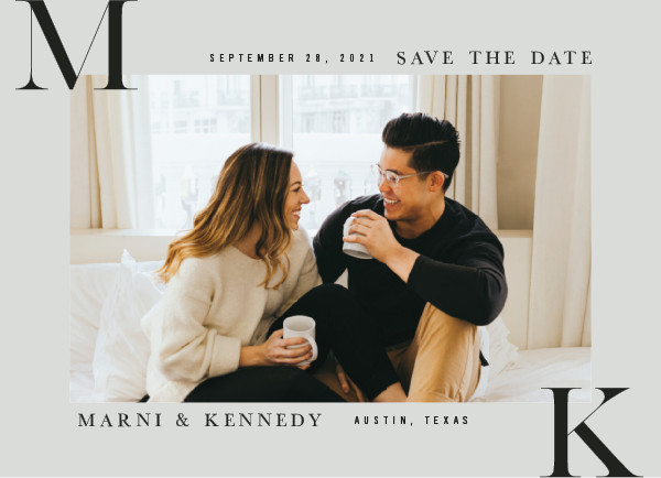 'Initial Here (Fog)' Save-the-Dates