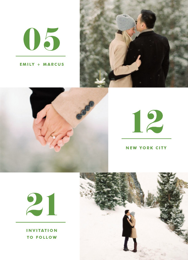 'Love Series (Fern)' Save-the-Dates
