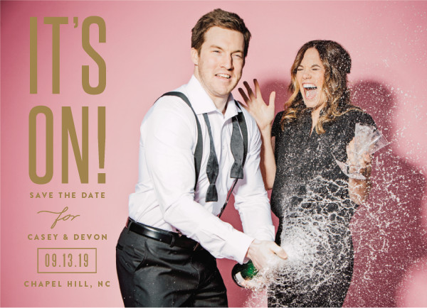 'It's On! (Brass)' Save-the-Date