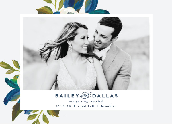 'Our Something Blue (Ocean)' Save the Date Card