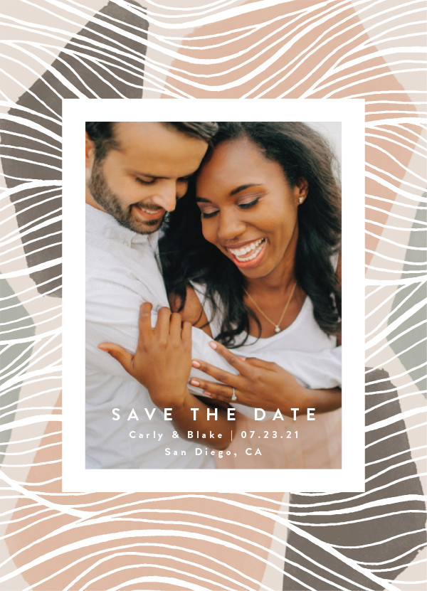 'Tropical (Mist)' Save the Date Card
