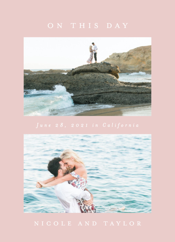 'Nicole (Soft Rose)' Wedding Save the Date