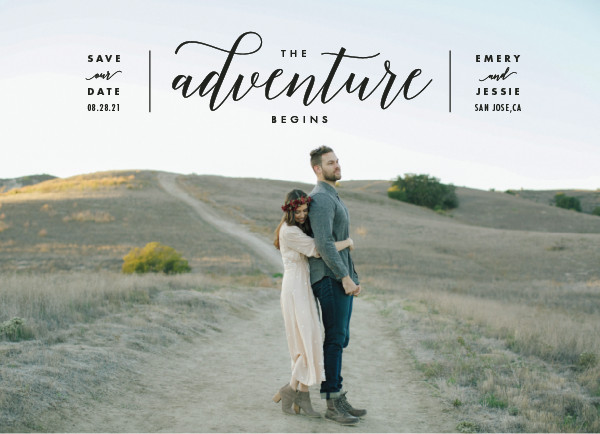 'The Adventure Begins (Classic)' Wedding Save the Date