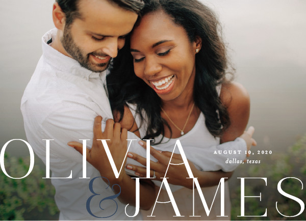 'This Couple (Marine)' Save the Date Card