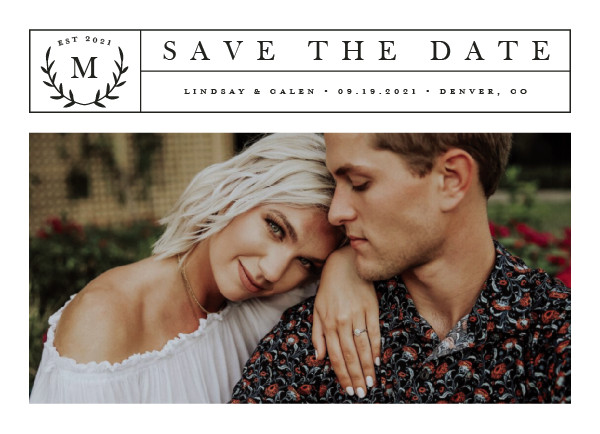 'Inaugural (Chiffon)' Wedding Save the Date