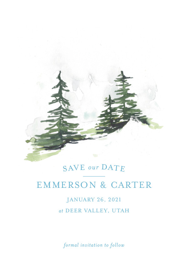 'On The Slopes (Ice)' Save the Date