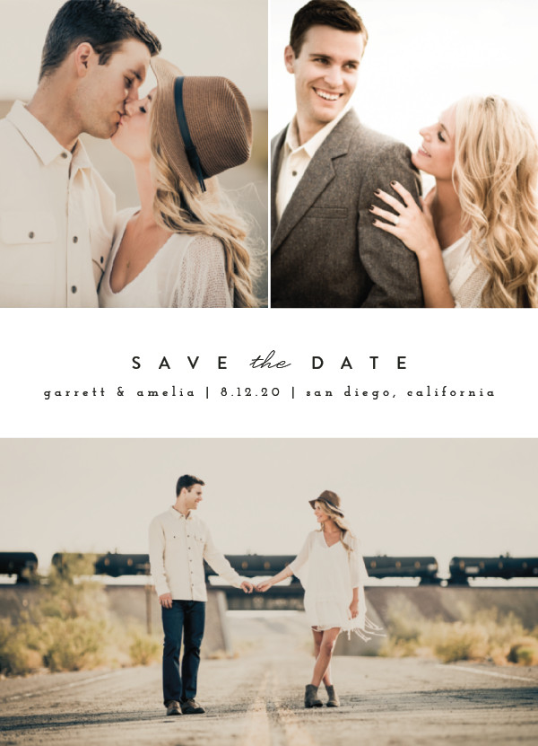 'Simple Date (Frosting)' Save the Dates