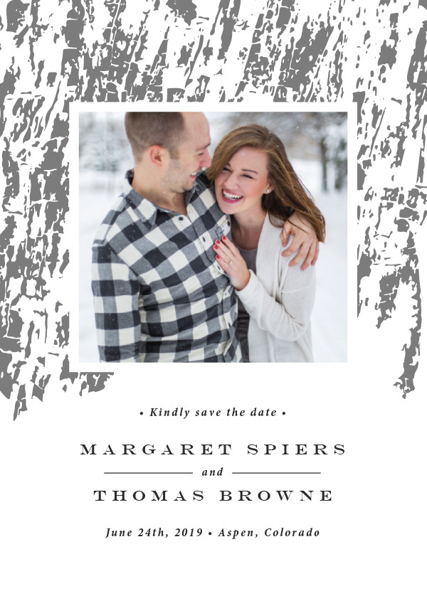 'Timber (Ash)' Save the Date Card