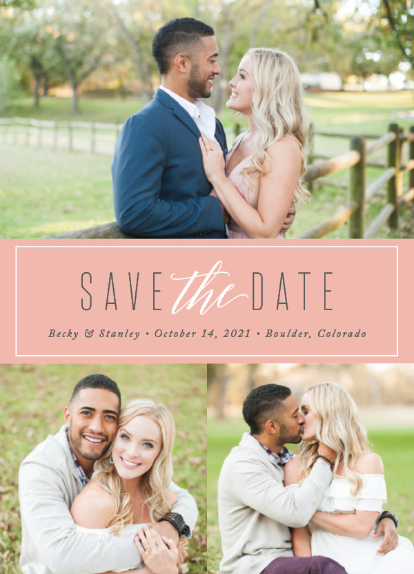 'Opulent (Blush)' Wedding Save the Date