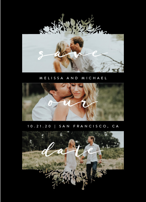 'Whispers (Midnight)' Multi-photo Save the Dates