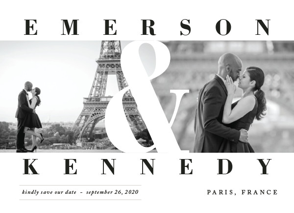 'Timeless (Diamond)' Save the Date Card