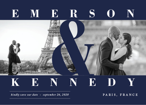'Timeless (Navy)' Wedding Save the Date
