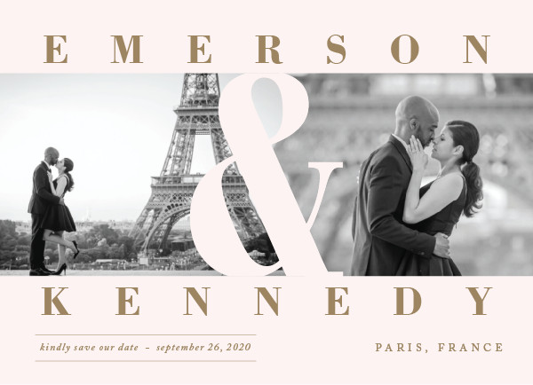 'Timeless (Blush)' Save-the-Dates