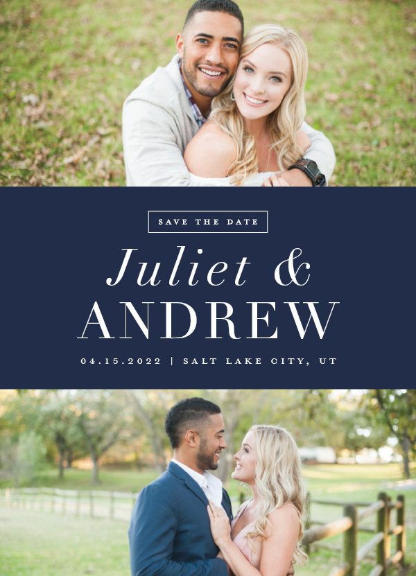 'New Modern (Marine)' Save-the-Dates