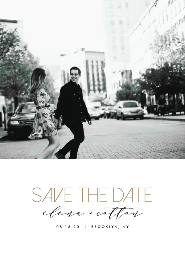 'Urban Type (Sugar)' Save the Date Card