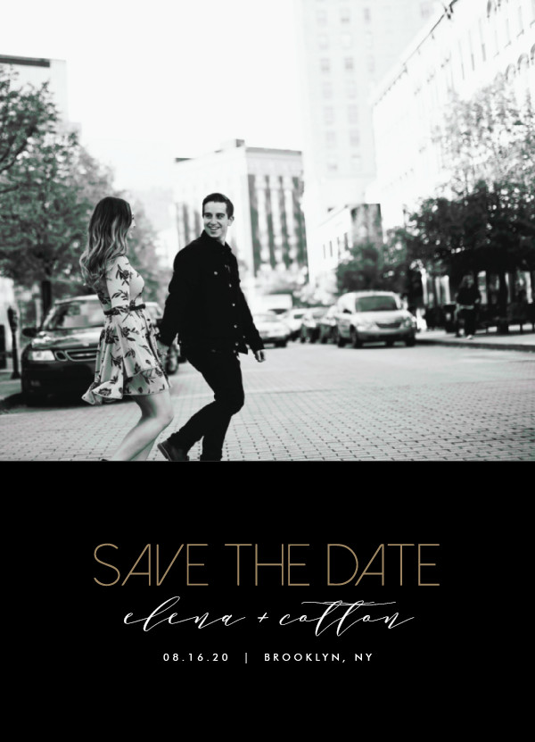 'Urban Type (Onyx)' Black Save the Dates