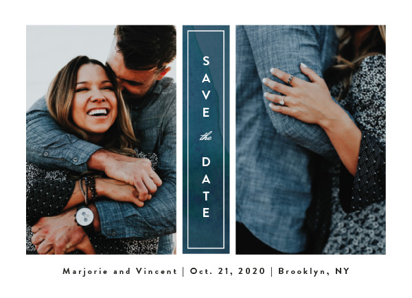 'Romantic Columns (Dusty)' Wedding Save the Date