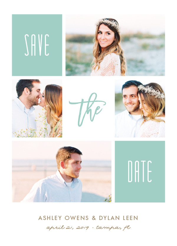'Framed Up (Ocean)' Save the Date Card