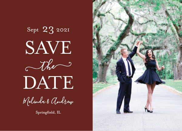 'Elegant Save (Merlot)' Save-the-Date
