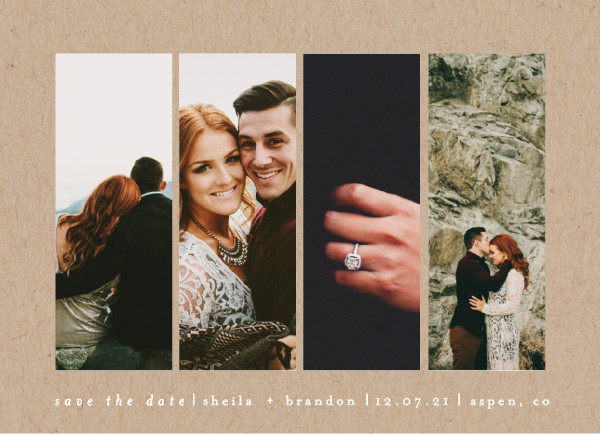 'Special Snapshots (Kraft)' Save the Date Card