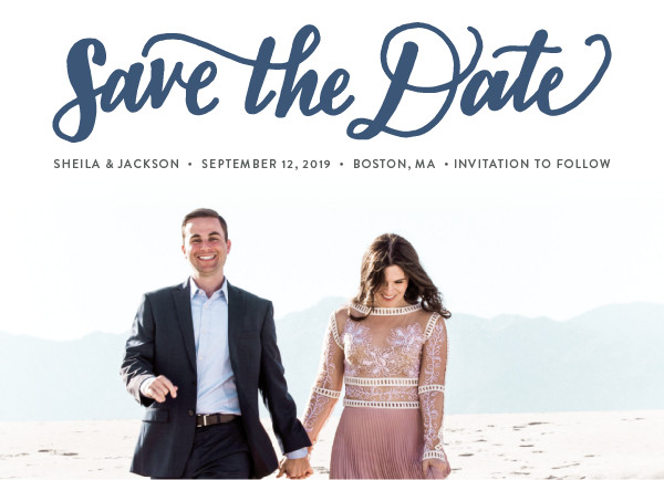 'Bold Love (Navy)' Save-the-Dates