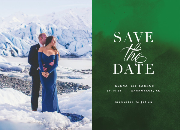 'Velvet (Emerald)' Save the Date