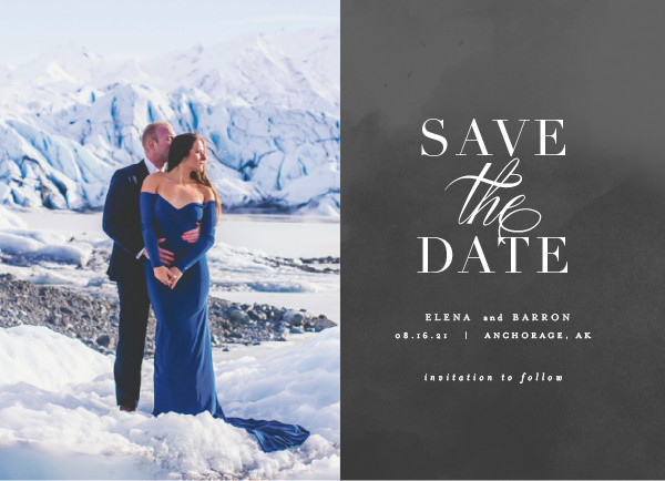 'Velvet (Cement)' Save the Dates