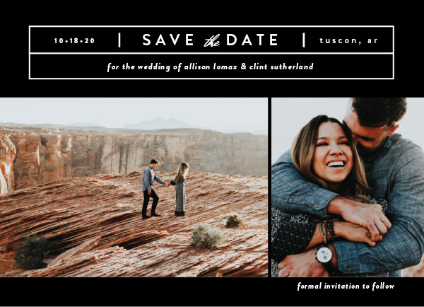 'Cinematic (Blackout)' Save-the-Dates