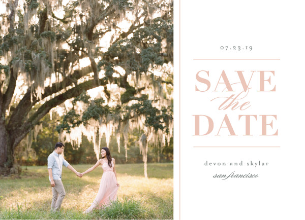 'Romance In The Air (Blush)' Save-the-Dates