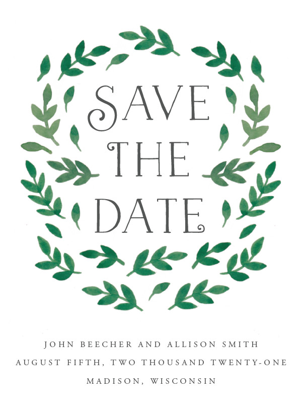 'Painted Leaves (Leaves)' Save the Dates