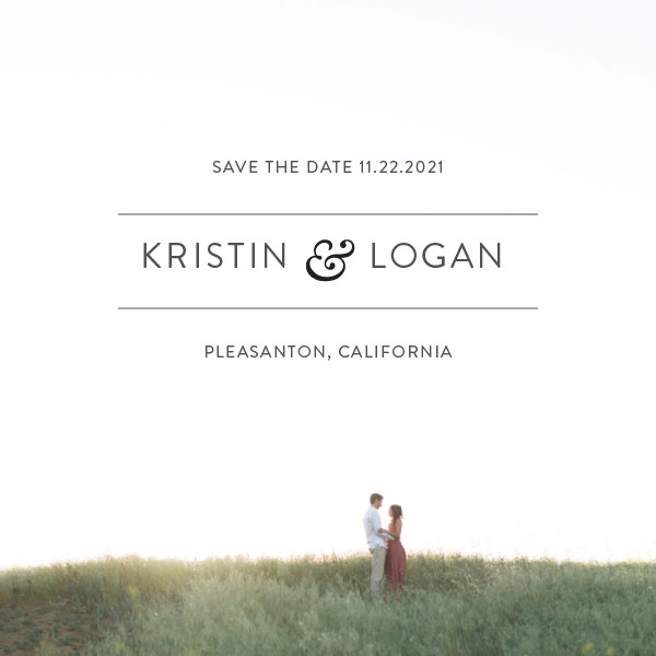 'Simply Minimal (Blush)' Formal Save the Dates