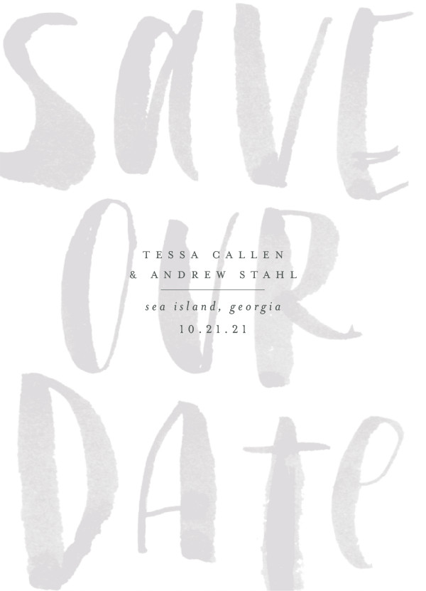 'Bare (Smoke)' Save-the-Date