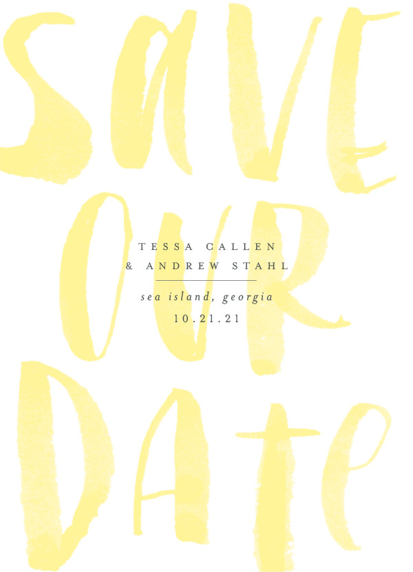 'Bare (Sunshine)' Yellow Save the Dates