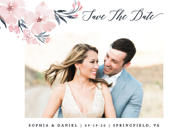 'Beautifully Painted (Blush)' Save-the-Dates