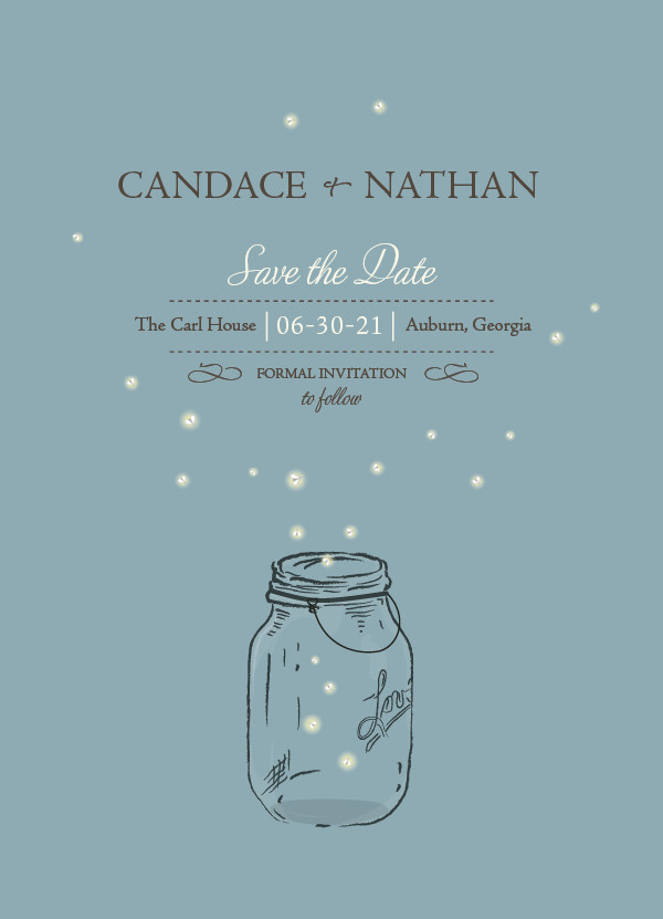 'Fireflies (Cornflower)' Save-the-Date