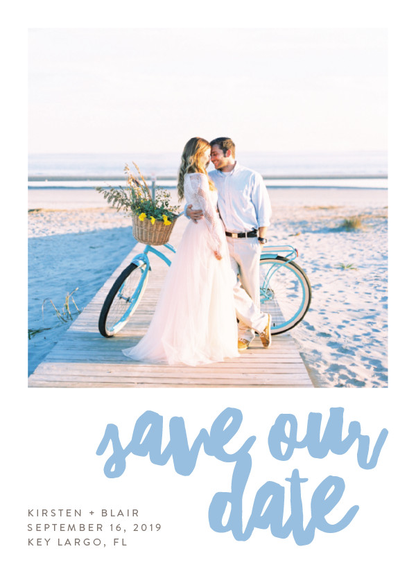'Love & Laughter (Sky)' Blue Save the Dates