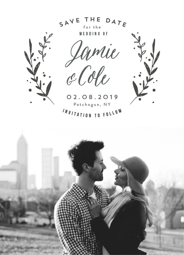 'Simple Elegant (Cotton)' Wedding Save the Date