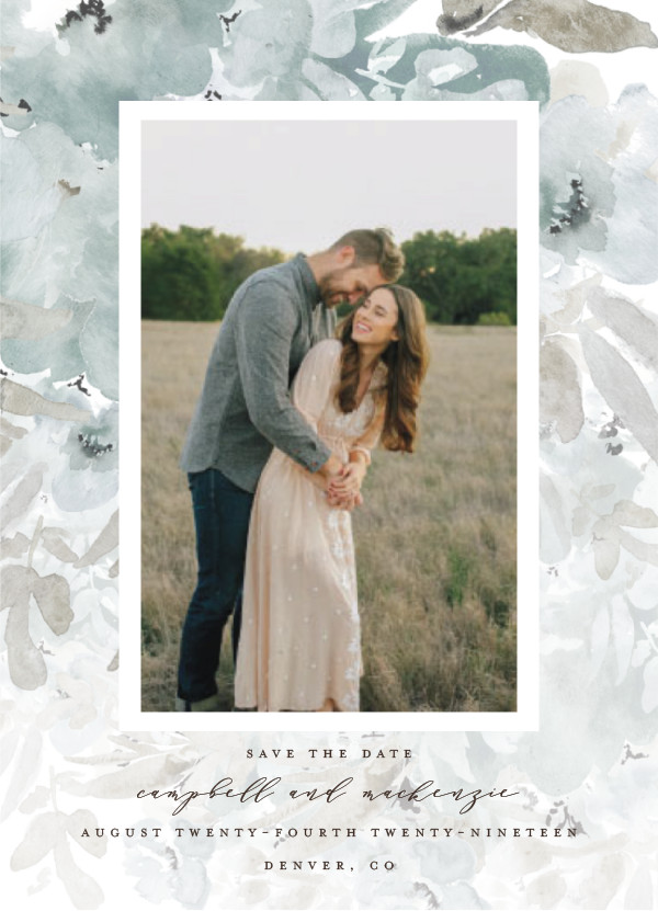'Spring Garden Frame (Dew)' Save-the-Dates
