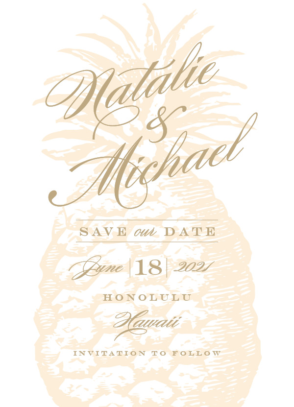 'Botanica (Cognac)' Save the Date Card