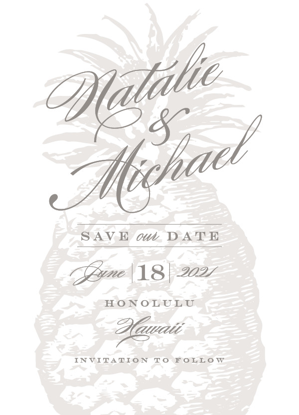 'Botanica (Cement)' Tropical Save the Dates