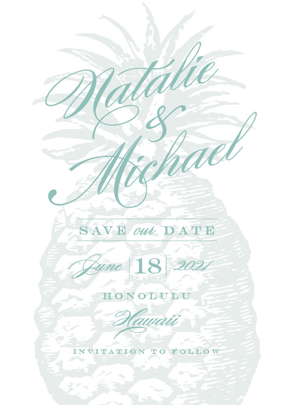 'Botanica (Seafoam)' Wedding Save the Date