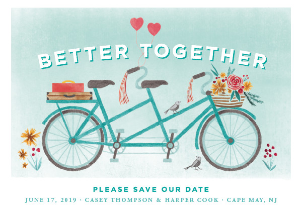 'In Tandem (Aqua)' Save-the-Dates