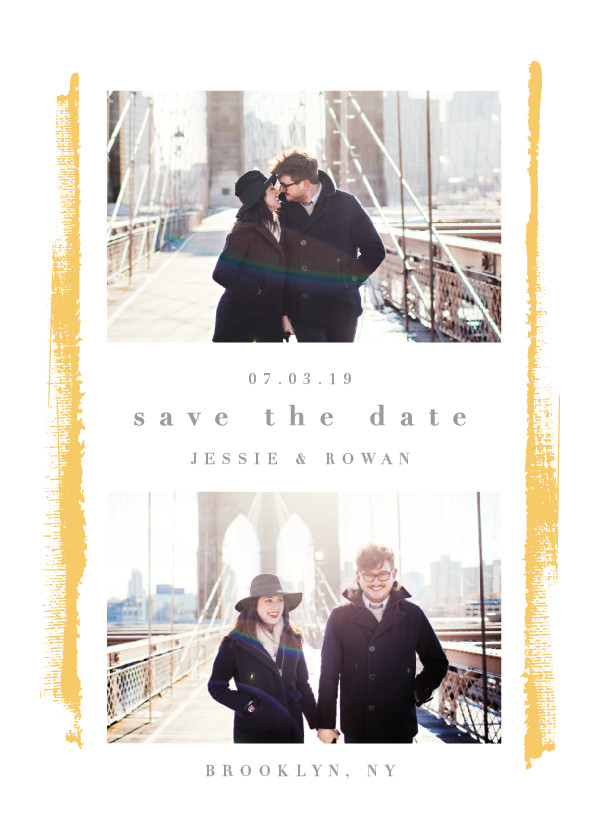 'Emmenthal (Butterscotch)' Save the Date