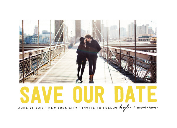 'Bold Message (Sunshine)' Save the Date Card