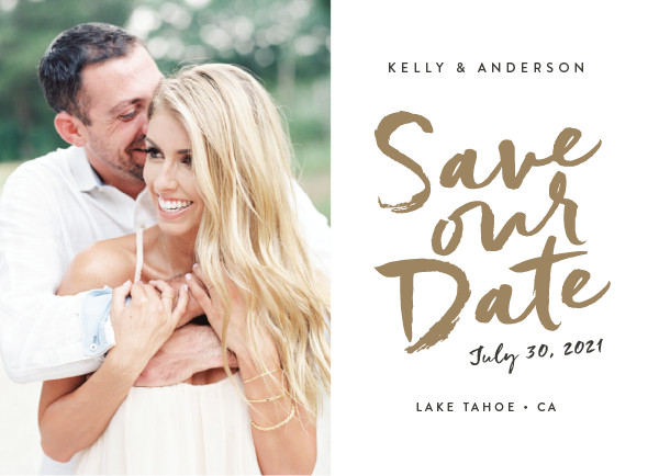 'Written (Gold Leaf)' Save-the-Dates