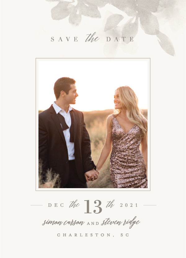 'Formal Frame (Mist)' Save-the-Date
